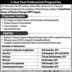 Transitional Doctor of Physical Therapy Admissions in UHS
