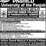 Akhtar Saeed Medical Dental College Admission 2016 Merit List