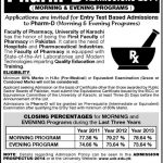 Pharm D Admissions Open in University of Karachi