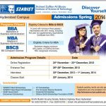 SZABIST hyderabad Admissions Spring 2014 150x150 Sukkur Institute of Business Administration Admissions 2013