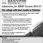 Avicenna Medical College Lahore Admission in MBBS