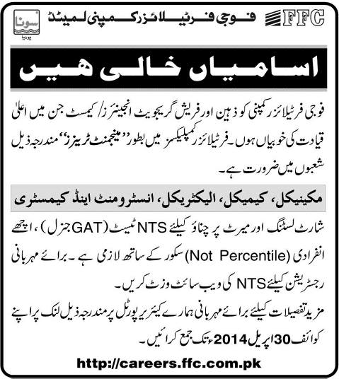Jobs in FFB 2014