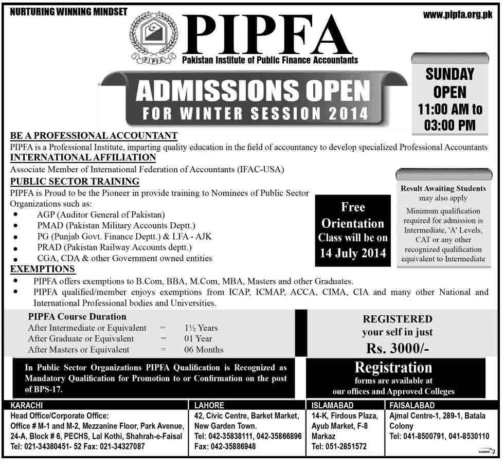 PIPFA-Admission-2014
