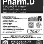 Superior College Admissions 2013 150x150 Margalla Institute of Health Sciences Admissions BDS, DPT, Pharm D