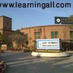 Aziz Fatima Medical College Faisalabad admission 2016 Form Entry Test