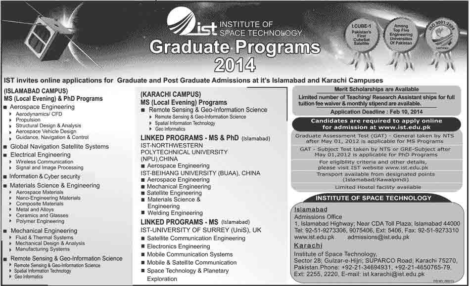IST Admissions 2014 Pakistan Navy Polytechnic Institute Karachi Admission Notice