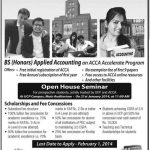 BS Applied Accounting Admissions 2016 UCP Lahore