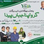 Shahbaz Sharif Punjab Youth Internship Program 2016