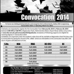 IBA Sukkur Convocation 2016 Registration Form for Graduates