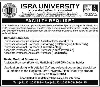 Isra-University-Professor-Jobs-2014