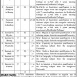 Jobs in Balochistan Residential College 150x150 Principals Required By Higher Education Department Balochistan