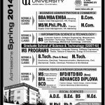 Indus University Admissions Spring 2016, BBA MBA Masters