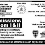 B.com Admissions in Pakistan Educational Foundation College