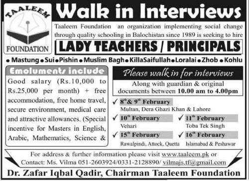 Taaleem-Foundation-Jobs-2014