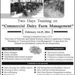 UVAS Lahore Training Commercial Dairy Farm Management
