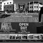 MBA Admission in Nazeer Hussain University