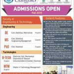 Sarhad University Admissions in Engineering and Technology programs