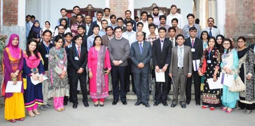 Bilal Yaseen Group Photo with GC University Students