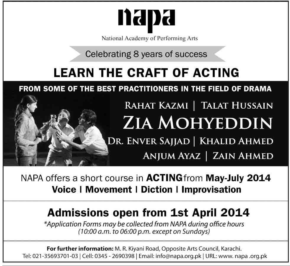 napa karachi admissions 2014