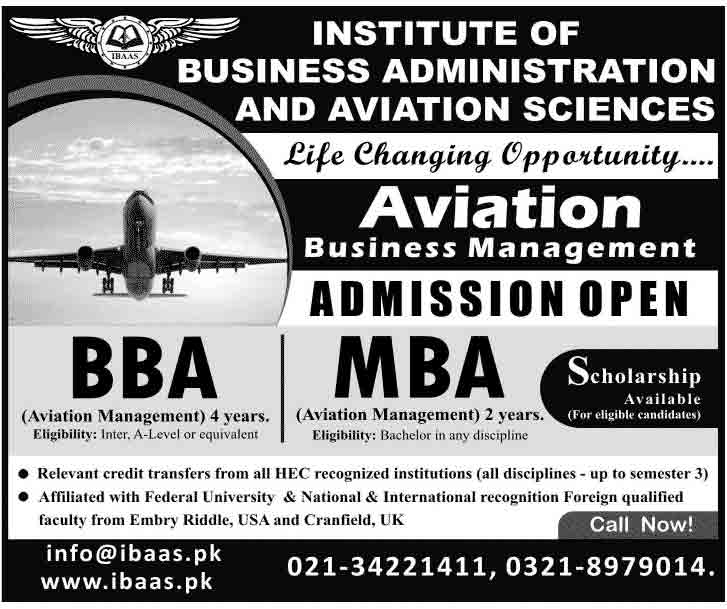 Aviation Management Admissions 2014 Sindh Muslim Law College Karachi Admissions 2015