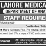 Dissection Hall Assistant Jobs in CMH Lahore Medical College