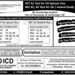 Cambridge English Language Assessment Admissions In Pakistan