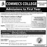 Commecs College Admissions 2014 e1433012962321 150x150 Bise Lahore Board Matric 9th 10th Class Date Sheet 2015