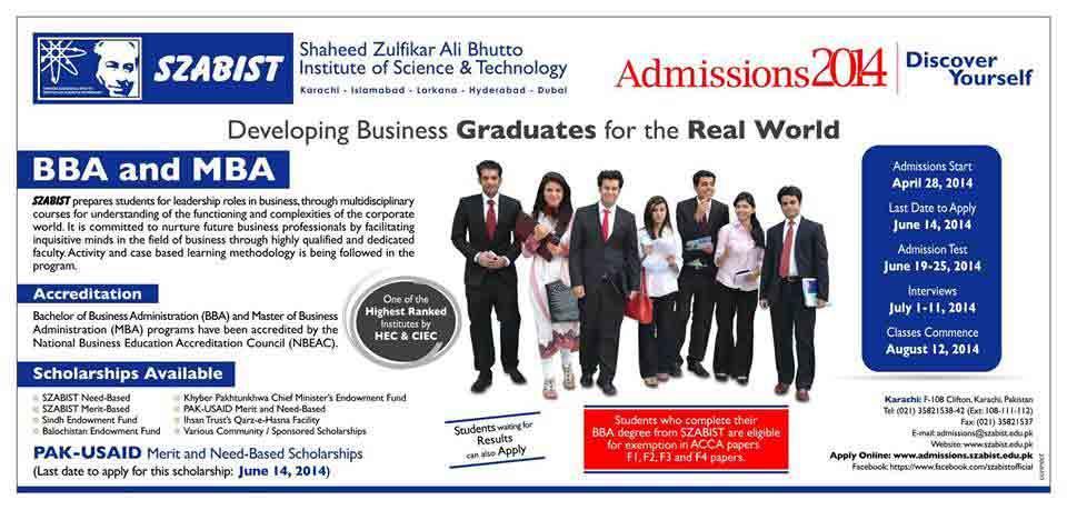 szabist Admissions 2014 Pakistan Navy Polytechnic Institute Karachi Admission Notice