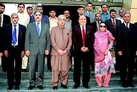 UET Lahore Group Photo Abdul Nabi Bangash, Ilyas Ahmed Bilour