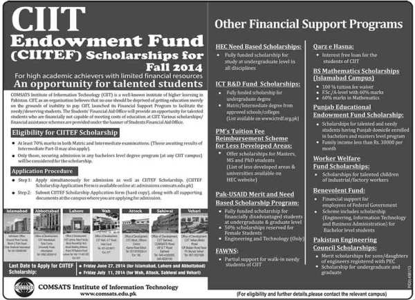 CIITEF-Scholarships-2014-2015