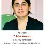 Professor Dr. Tahira Naseem Join Information Technology University