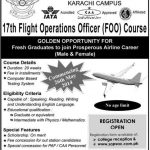 Admissions Open in Saps Aviation College Karachi for 17th Flight Operations Officer