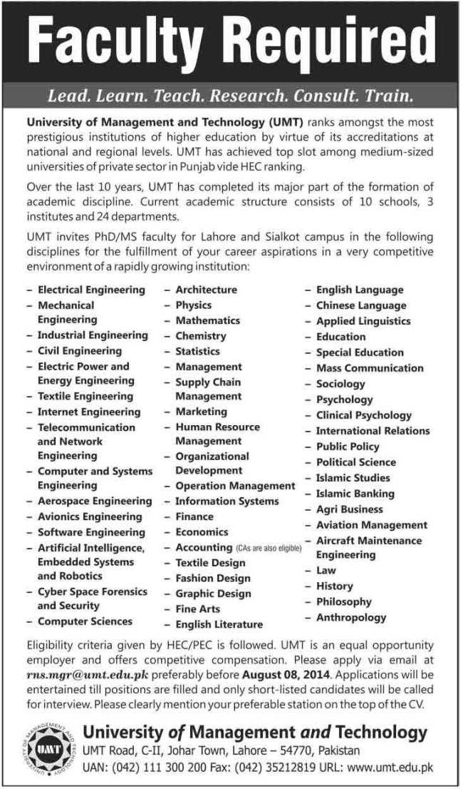 UMT-Jobs-2014