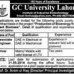 associate engineer jobs in gcu lahore 150x150 Jobs in Land Records Management & Information Systems