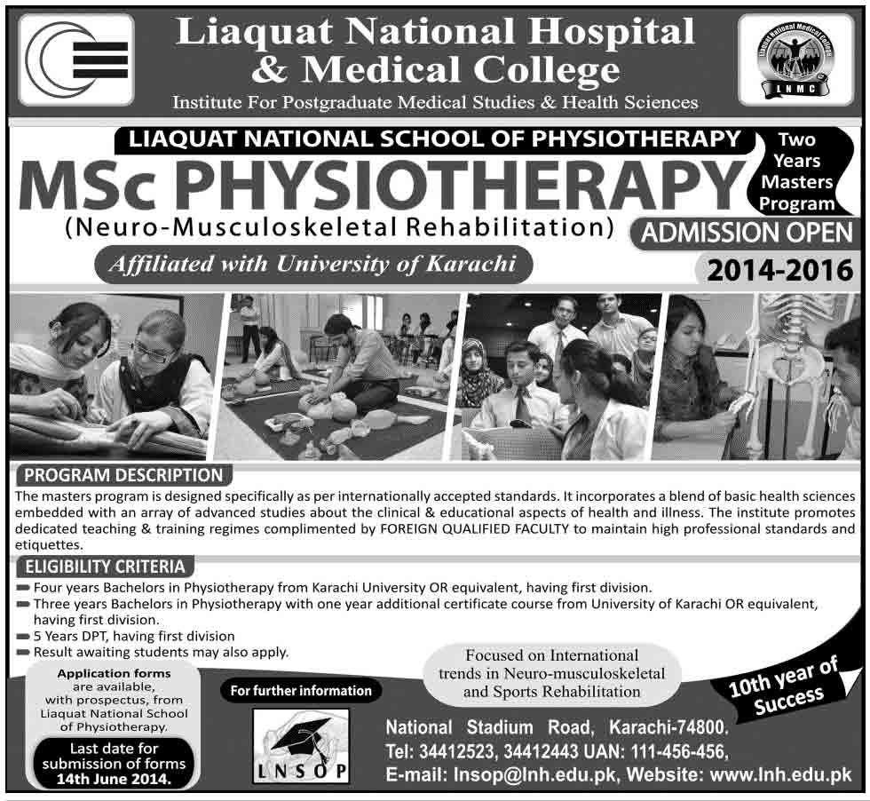 liaquat medical college msc admissions Admissions in Liaquat National College of Nursing