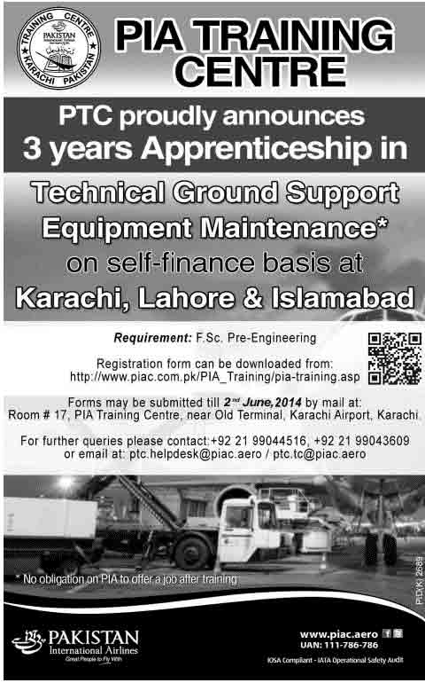 PIA announces Apprenticeship in Technical Ground Support