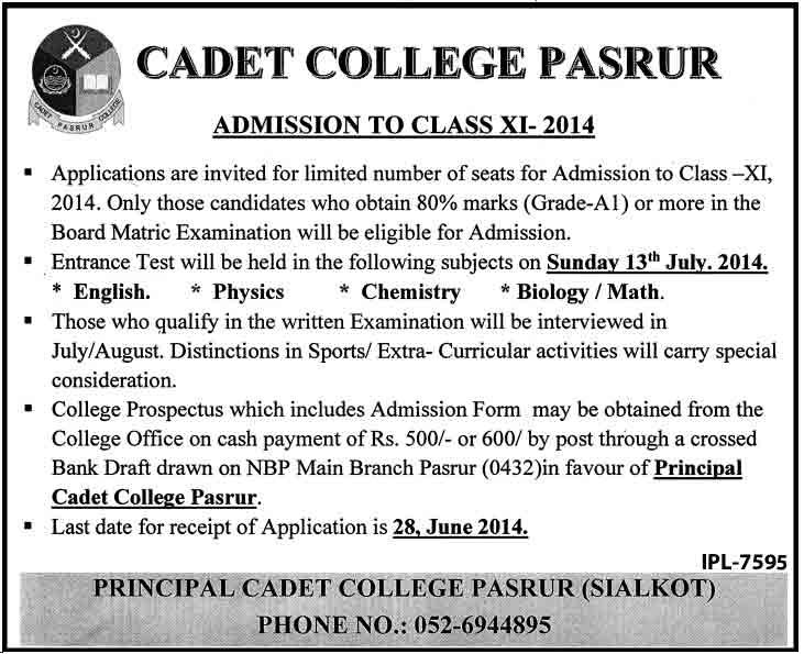 Cadet-College-Admissions-2014