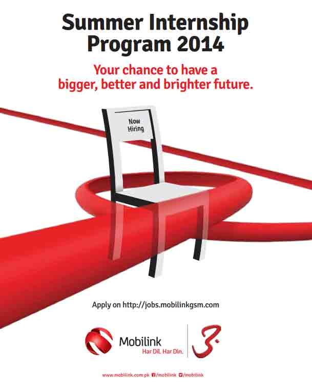 Mobilink Gsm Internship Program Internship Opportunity at Warid Telecom Head Office Lahore