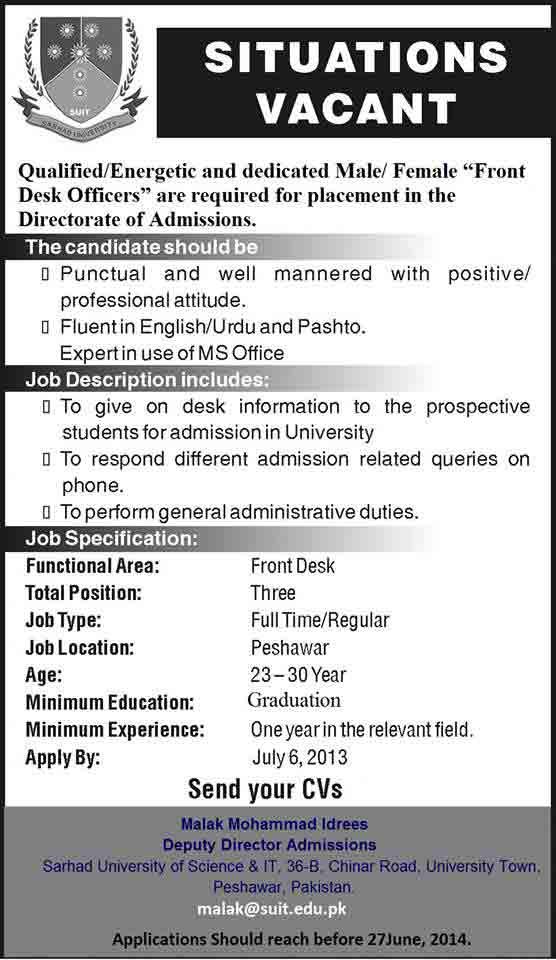 sarhad-University-Jobs-2014