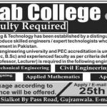 Jobs in Chenab College of Engineering & Technology Gujranwala