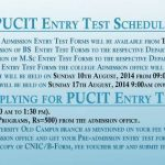 PUCIT Entry Test 150x150 PUCIT Lahore BS & Msc Entry Test Dates and Schedule 2015