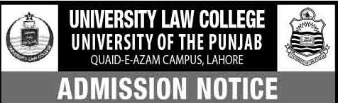 Punjab University Law College Admission 2018 Merit List Result Test