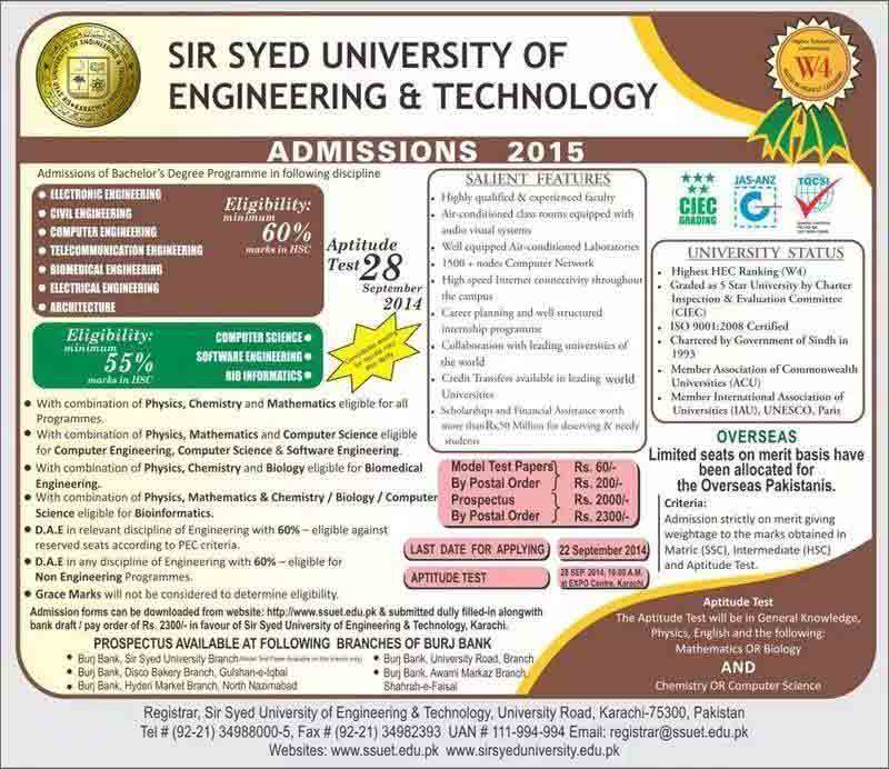 sir syed university admissions 2014 Sir syed University of Engineering & Technology Convocation 2014