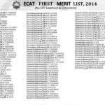 UET Lahore 1st Merit List 2016 Selected Candidates