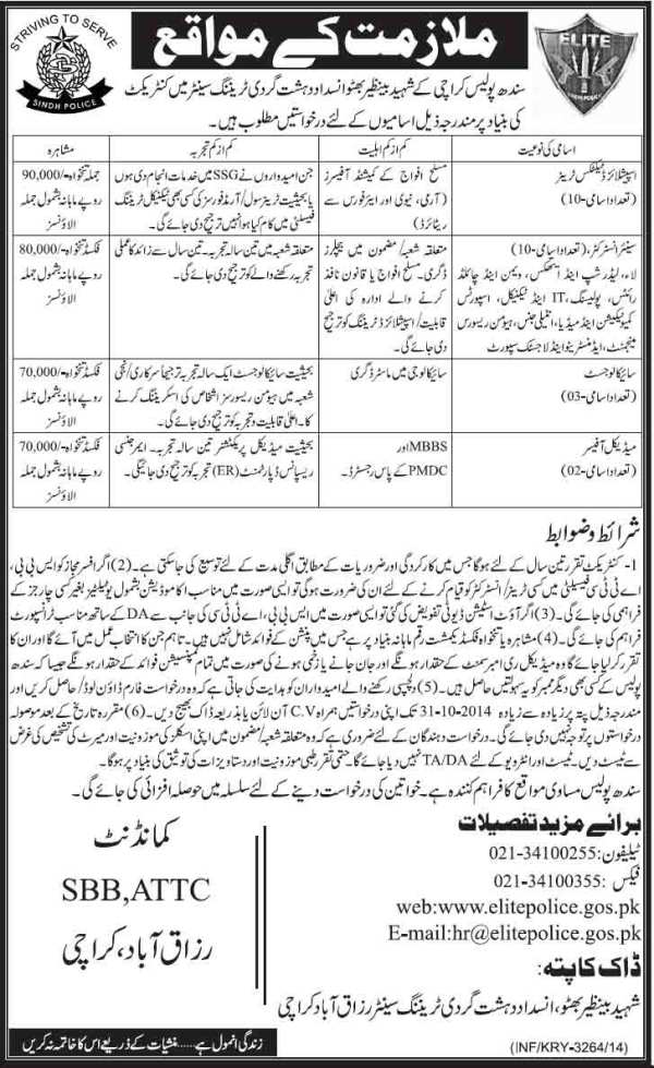 Sindh-Police-Jobs-2014