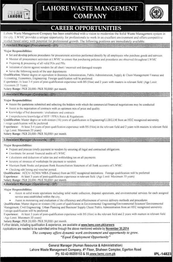 Assistant Manager Jobs in Lahore e1416369469542 Haseeb Waqas Group of Companies Jobs, hwgc.com.pk careers