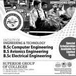 BSc Engineering and Technology Admissions in Superior University