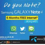 Telenor Offer Samsung galaxy Note 4 with 6 Months Free Internet