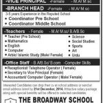 The Broadway School Job Opportunities
