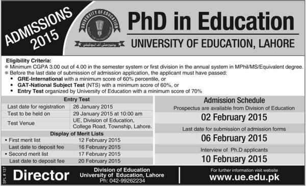 PhD-in-Education-Admission